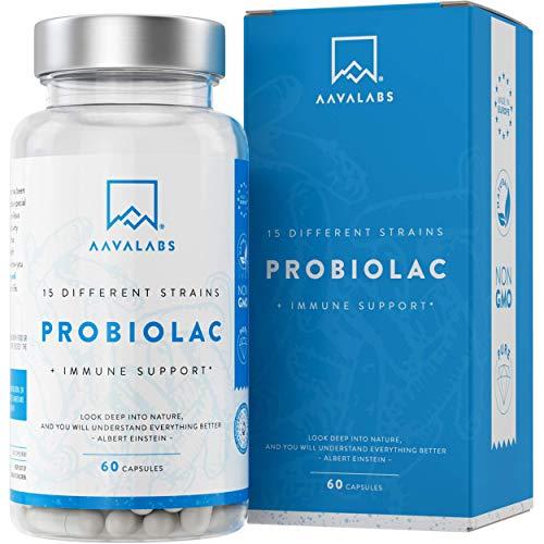 Integratore Probiotico [ 30 Miliardi ] - 60 Capsule - 15 Formula ad Ampio Spettro di Ceppi + Prebiotici - tra cui Lactobacillus Acidophilus e Bifidobacterium - Supporta il Sistema Immunitario