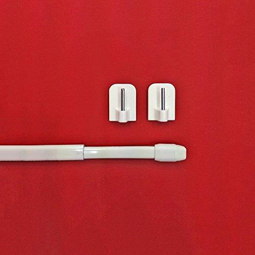 Easy-Shadow - 1 Stück Vitragestange Breite 80 - 140 cm inkl. 2 Stück Klebehaken in Farbe weiß - Vitrage Scheibenstange Gardinenstange Cafehausstange Bistrostange Teleskop-Stange ausziehbar für Scheibengardine 11 mm Höhe - weiß