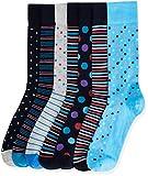 Marchio Amazon - find. 7 Pack Ankle Sock, Calze Uomo, Nero (Black), 44-47 EU, Label: 10-12 UK
