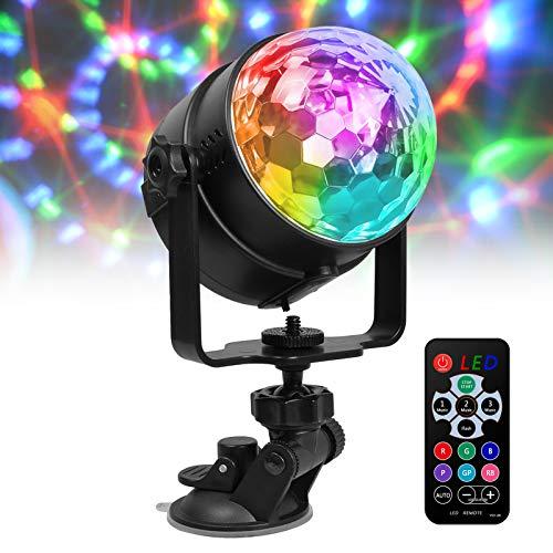 LED Discokugel Partylicht Partybeleuchtung, 7 Modi Disco Glühbirne sprachsteuerte Party Deko Licht mit Fernbedienung Kinder Weihnachten Geschenk (4W)