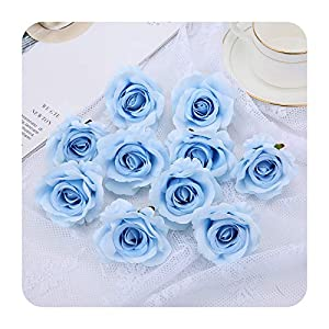 PrettyR Romantic Valentine's Day Artificial Silk Roses Flower Heads for Wedding Arch Bridal Floral Decorations DIY Home Decor Flowers