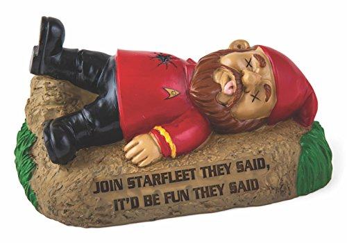 Star Trek Redshirt in the garden