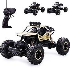 Sevenium Rock Crawler Four Wheel Drive 1:16 Metal Alloy Body Forward Remote Control high Speed Monster Racing car (Metal R...