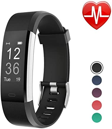 LETSCOM Fitness Tracker HR, Activity Tracker Watch with Heart Rate Monitor, Waterproof Smart Bracelet with Step Counter, Calorie Counter, Pedometer Watch for Kids Women and Men