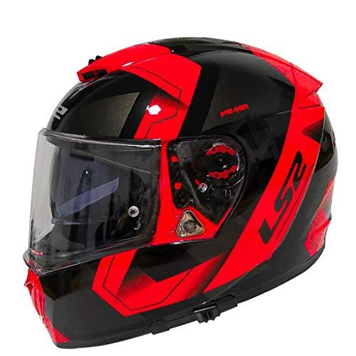 Casque moto hommes et femmes double casque casque racing casque anti-buée locomotive (Couleur : B-Xl(57-58cm))