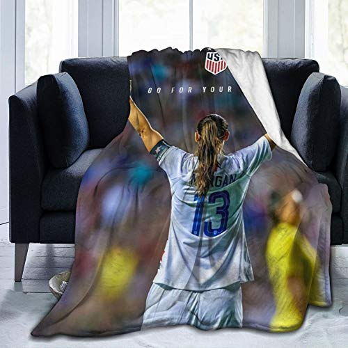 Sunny Rainy Day Alex Morgan Super Soft Sheep Blanket, Suitable for Adults Or Children's Sofa Or Bed