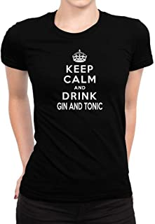 Idakoos Keep Calm and Drink Gin and Tonic Women T-Shirt