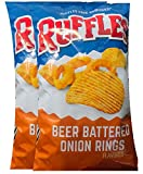 NEW Ruffles Battered Onion Rings/ Ruffles Smokehouse Barbecue Net Wt 8.5Oz (Beer Battered Onion...