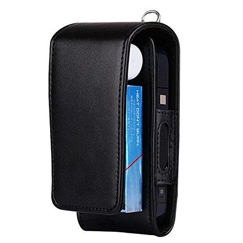 Étui portefeuille de protection en similicuir pour cigarette électronique iQOS, avec porte-cartes