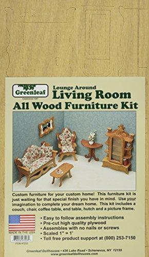 Greenleaf Dollhouse Furniture Kit, Living Room