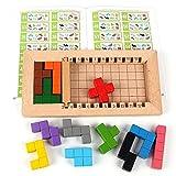 Rompecabezas De Madera Para Adultos Para Niños #tangram Puzzle 500 Tipos De Jugabilidad Juguetes Educativos Para Niños Juego De Tetris Rompecabezas Ejercicio Habilidad Lógica 3+,Cube