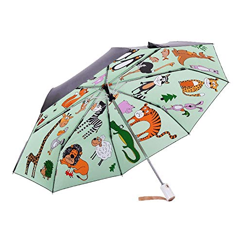 Long Handle Large Creative Umbrella,Free Hand Double Umbrella Windproof, Self-Supporting Built-in Umbrella is Best for Travel and Car Use (Color : Green)