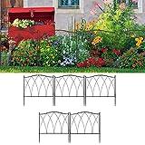 Panel de Valla de Borde de jardín de 5 Piezas, Valla de jardín Duradera de Estilo Simple Ron Plegable Resistente para jardín