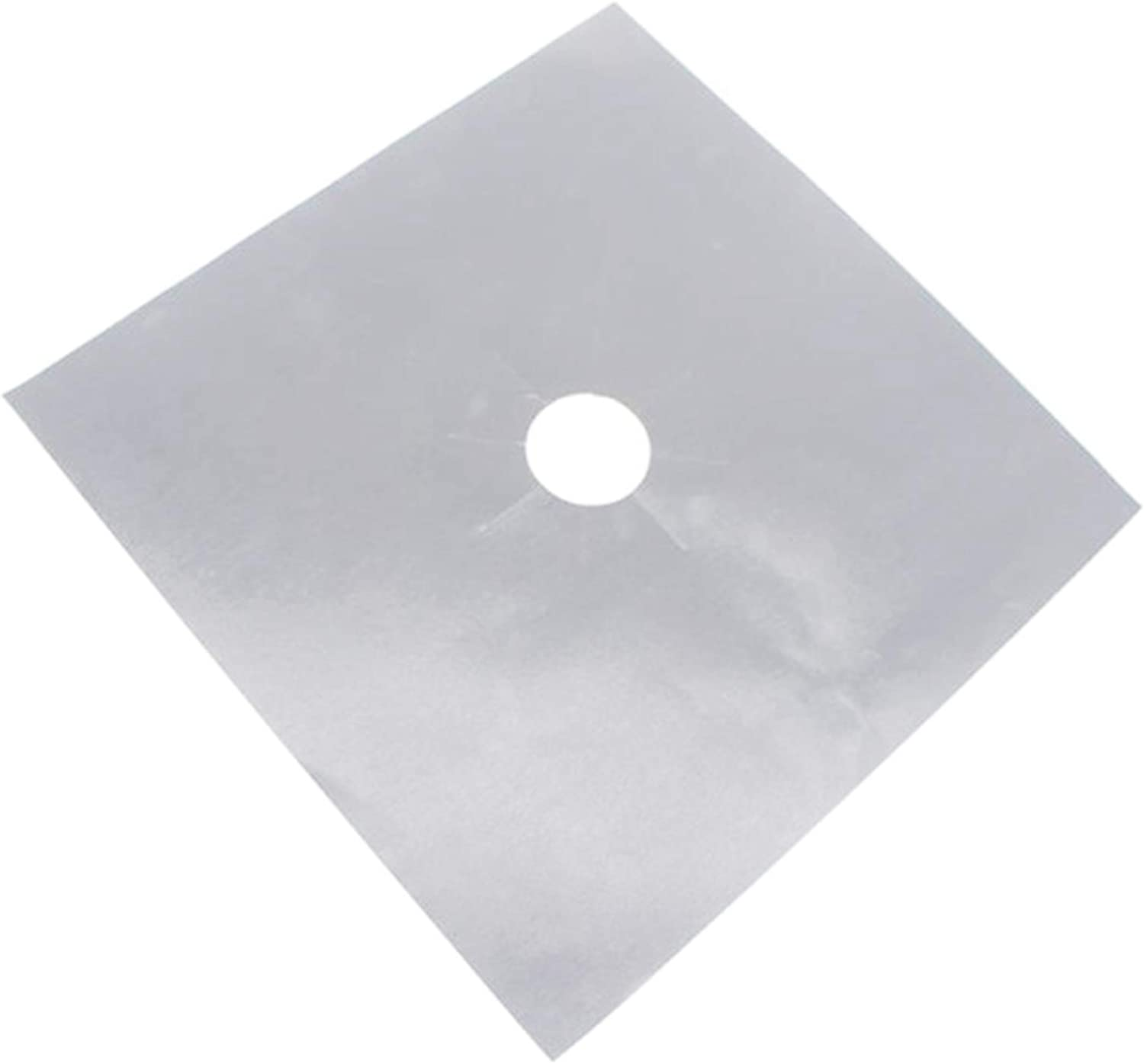 Silver metagio Gas Hob Range Protectors Set of 4 Non-Stick Reusable Cooker Protector 27x27cm Easy to Clean Protection Pad Kitchen Accessories