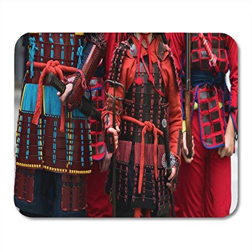 Muis Pads Zwart Japan Samurai Armour en Helm Carnaval Kostuums Soldaten muismat voor notebooks, Desktop Computers matten