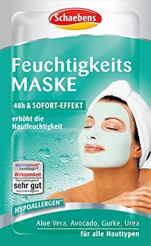 Preisvergleich Produktbild Schaebens Feuchtigkeits Maske,  15er Pack (15 x 10 ml)