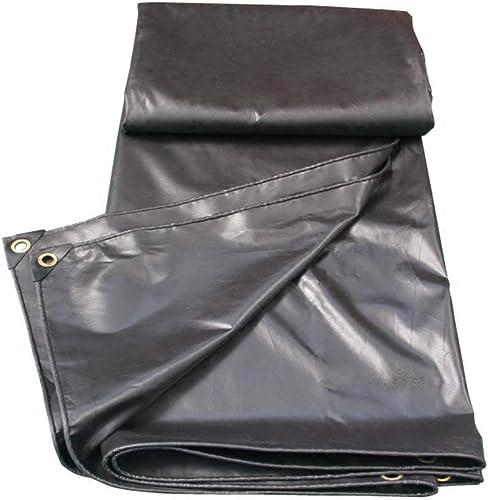 PIAOLING Bache imperméable Bache imperméable Noire, bache de Toile d'auvent de Pluie d'abri de Camion de PVC, 2  3 mètres Durable (Taille   2  2M)