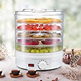 Food Dehydrator Machine, Electric Dehydrator for Jerky Food Dehydrator 350w with 5 Removable Trays, 35-70° Temperature Adjustable for Healthy & Natural Snacks