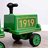 kidsclub Train Carriage, Ride on Train Carriage Accessory, Upgrade Seater, Toy Storage Seat, Indoor & Outdoor Riding, Great Birthday for Children - Green Carriage