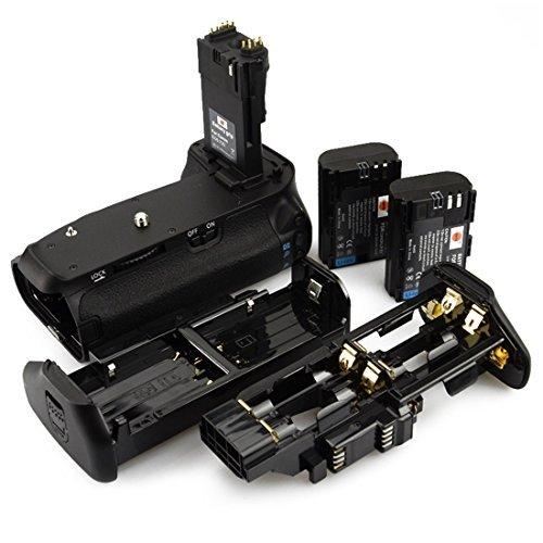 DSTE Replacement for Pro BG-E14 Vertical Battery Grip + 2X LP-E6 LP-E6N Compatible Canon EOS 70D 80D 90D SLR Digital Camera