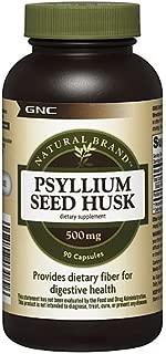 GNC Natural Brand Psyllium Seed Husk, 500mg, Capsules, 90 ea