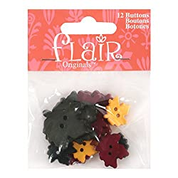 Blumenthal Lansing Favorite Findings Buttons, Falling Leaves, 12/Pkg