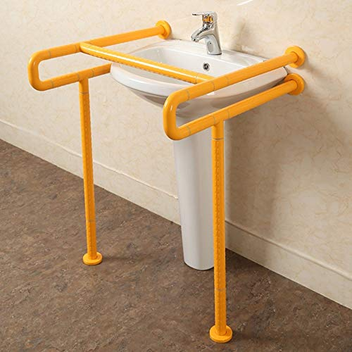 LYHY Handlauf Sockel Becken Handlauf Barrierefreies Bad Ältere Behinderte Handgriff (Farbe: Gelb)