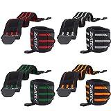 ZiATEC Handgelenkbandagen Ultra 50cm   Wrist Wraps für Crossfit, Bodybuilding & Kraftsport - Handgelenkgurte für Damen & Herren - Unisize, Größe:50.0 cm, Farbe:orange
