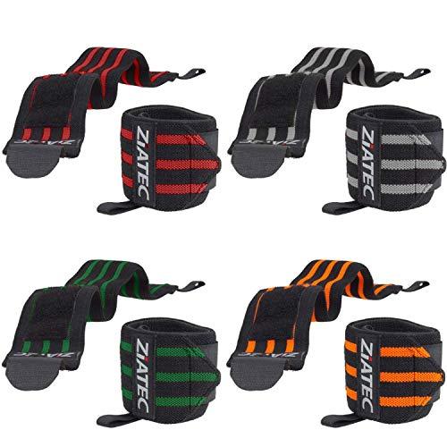 ZiATEC Handgelenkbandagen Ultra 50cm | Wrist Wraps für Crossfit, Bodybuilding & Kraftsport - Handgelenkgurte für Damen & Herren - Unisize, Größe:50.0 cm, Farbe:rot