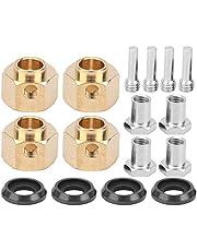 Aumente el peso del vehículo 4 piezas Adaptador hexagonal para buje de rueda Adaptador hexagonal para buje de rueda RC Latón de calidad con 3 tamaños diferentes(9mm)