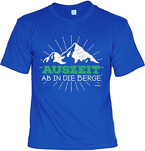Wanderer Bergsteiger Sprüche T-Shirt Naturfreunde : Auszeit ab in die Berge -Tshirt Berge Wandern Klettern Gr: L