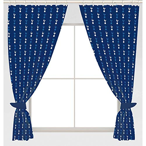 "Tottenham Hotspur FC 66"" x 72"" Drop Polycotton Curtains Ready Made"