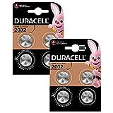 Duracell Specialty 2032 Lithium-Knopfzelle 3V ((CR2032 /DL2032 entwickelt für die Verwendung in Schlüsselanhängern, Waagen, Wearables und medizinischen Geräten) 8er-Packung