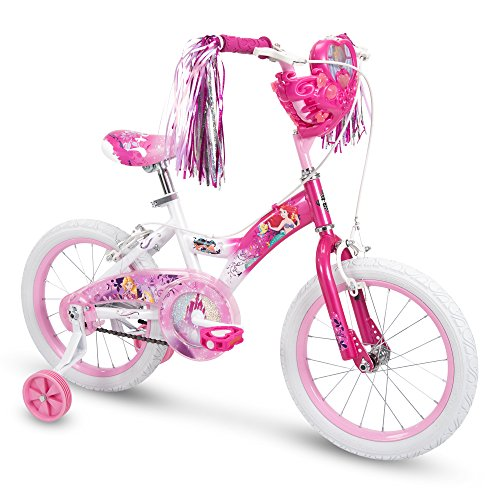 "Huffy Bicycle Company 16"" Disney Princess Girls Bike by Huffy, Choose Your Own Princess Basket, Pink - 71138"