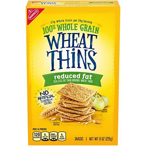 Wheat Thins Reduced Fat Whole Grain Wheat Crackers, 8 Oz, 1Count -  Mondelēz International