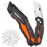 REXBETI 2-Pack Utility Knife, Heavy Duty Retractable Box Cutter for Cartons, Cardboard and Boxes, Blade...