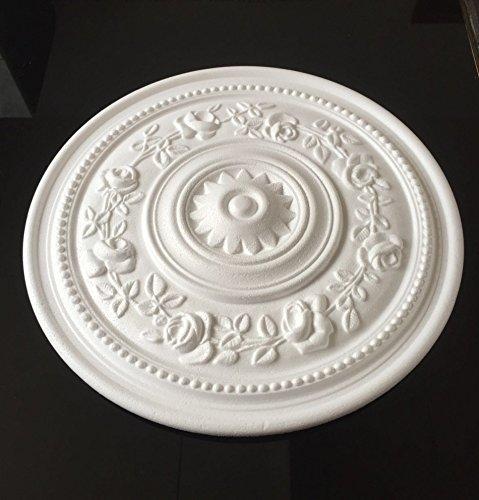 2 Stück Deckenrosetten B16, weiß, Ø39 cm, aus Styropor, Stuck, Wandrosette