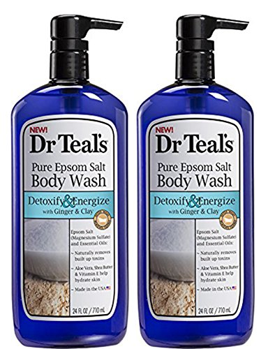Dr.Teals Pure Epsom Salt Body Wash Detoxify and Energize - Set of 2 with...