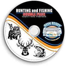 Hunting and Fishing Clipart-Vector Clip Art-Vinyl Cutter Plotter Images-T-Shirt Graphics CD