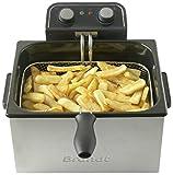 BRANDT – Friteuse XXL – 5 litres – Jusqu'à 1,6 kg de frites fraîches – 1 Panier Grande...