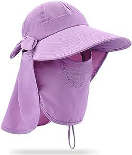 JUZEN Sombrero para el Sol Plegable Protección UV para el Verano 360 ° Protección Completa Sombrero para el Sol Arco Simple de Color sólido, Adecuado para jardinería Senderismo Pesca
