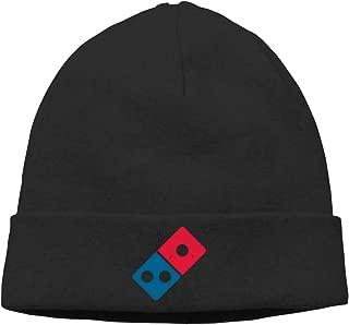 Dominos Pizza Logo Unisex Winter Knitting Wool Warm Hat Daily Slouchy Hats Beanie Skull Cap