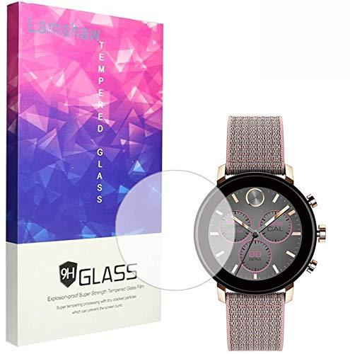 Displayschutzfolie für Movado Connect 2.0 Smartwatch, Blueshaw Displayschutzfolie, 9H gehärtetes Glas, Displayschutzfolie für Movado Connect 2.0 Smartwatch 40 mm / 42 mm, 40 mm große Hülle, 3 Stück.