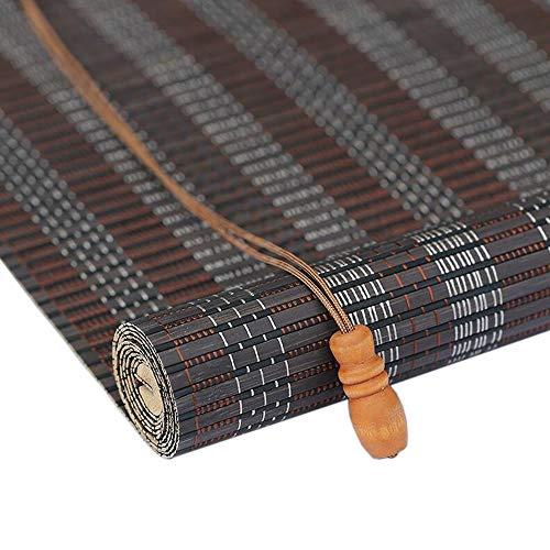 Jiayuan rolgordijnen van bamboe, rollen, rolgordijnen, om op te rollen, lichtfilter, ramen, zon, schaduw voor tuin, terras, galerij, balkon, Romeinse 65×120cm