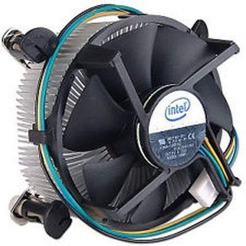 Intel Socket 775 disipador de calor de aluminio y ventilador de 3.5 pulgadas con conector de 4 pines hasta Core 2 Duo 3.1 GHz