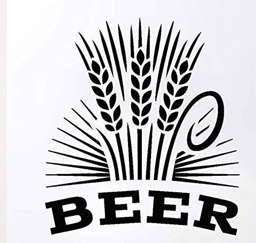 Axlgw Alcohol Drinkende Pub Muurstickers Bar Brouwerij Bier Schuim Molen Vinyl Muurstickers Reaturant Interieur Moderne Home Decoratie Grootte 47X42Cm