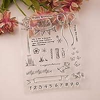 バルーンクリアスタンプ/DIYスクラップブッキング用シール/フォトアルバム装飾用クリアスタンプシートA1871