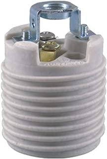 Keyless Porcelain Threaded Socket with Hickey,TWDRTDD Medium base E26 threaded Keyless porcelain socket,brackets (Ips 1/8-27))