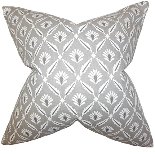 The Pillow Collection Alzbet Geometrisches Bettwäscheset, Stahl, Standard/50,8 x 66 cm