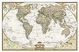 World Political Antique Plastifié 107,5 X 75 (en anglais)